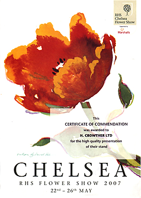 Crowther's Award for their 2008 stand at Chelsea